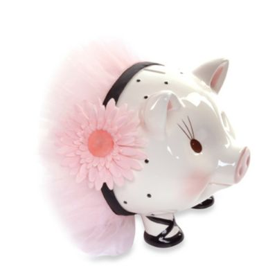 Mud Pie™ Perfectly Princess Giant Ceramic Piggy Bank