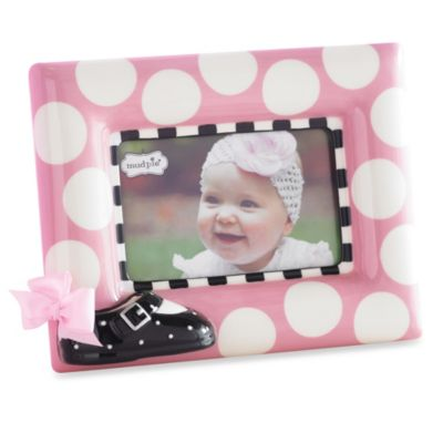 Mud Pie™ Mary Jane Polka Dot Ceramic Picture Frame