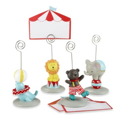 "Baby Aspen ""Big Top"" Circus Animal Place Card/Photo Holders (Set of 4)"