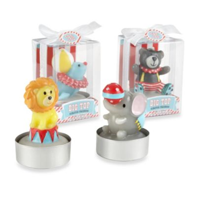 "Baby Aspen ""Big Top"" Circus Animal Candles (Set of 4)"