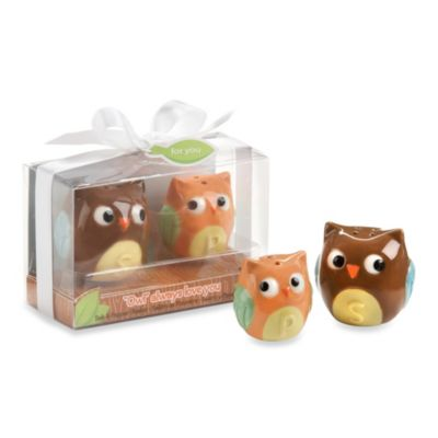 """Owl Always Love You"" Ceramic Mother and Baby Bird Salt & Pepper Shakers"