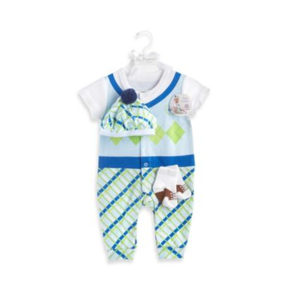 Baby Aspen Big Dreamzzz Baby Boy Golfer 3-Piece Layette Set