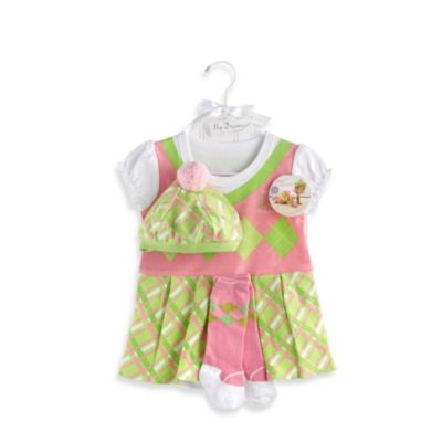 Baby Aspen Big Dreamzzz Baby Girl Golfer 3-Piece Layette Set