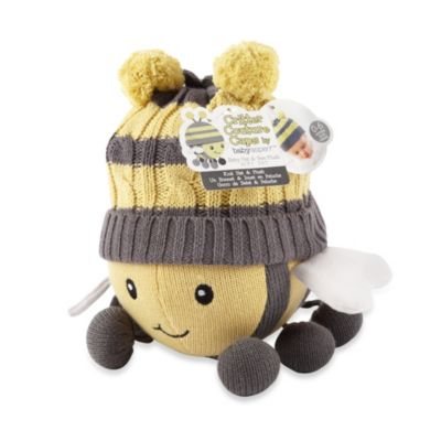 Baby Aspen Critter Couture Knit Bee Plush Toy and Knit Cap