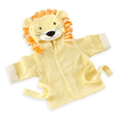 "Baby Aspen ""Big Top Bath Time"" Lion Hooded Spa Bathrobe"