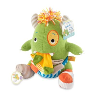 "Baby Aspen ""Calvin the Closet Monster"" Knit Baby Socks and Plush Monster Gift Set"