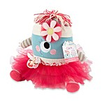 Baby Aspen Clara the Monster Plush Toy & Baby Bloomers Headband Toy Gift Set