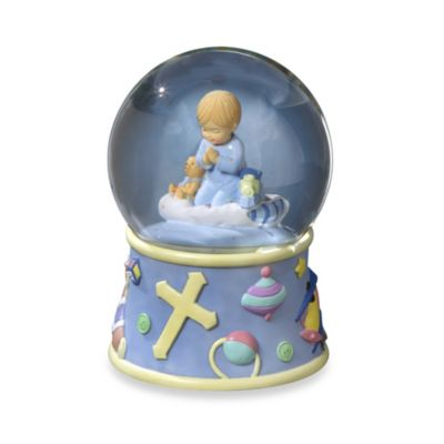 San Francisco Music Box Company® Bedtime Prayers Boy Water Globe