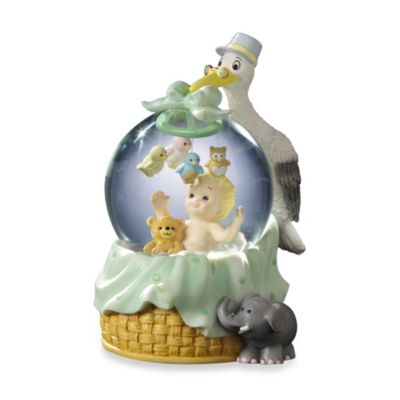 San Francisco Music Box Company® Stork with Baby Water Globe
