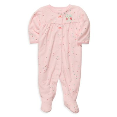 Carter's® Terry Snap-Up Sleep & Play in Pink Dot Owl