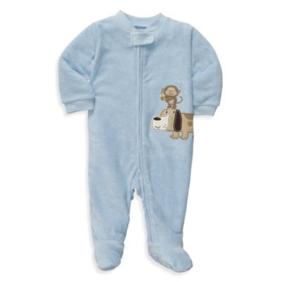 Carter's® Terry Zip-Up Sleep & Play in Blue Dog