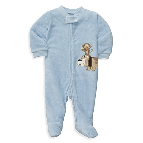 Carter's® Size 3 Months Terry Zip-Up Sleep & Play in Blue Dog