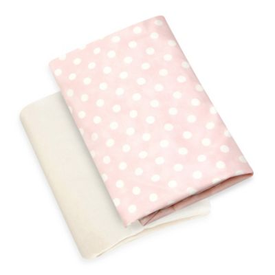 Glenna Jean Victoria Fitted Crib Sheet in Pink Dot