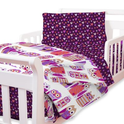Hoot Toddler Comforter and Sheet Set