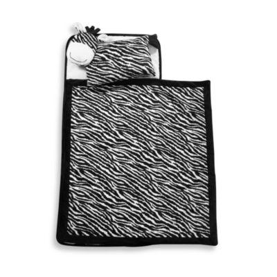Lambs & Ivy® Zebra Nap Mat in Black