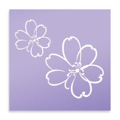 Glenna Jean Lulu Flower Wall Decals in White (Set of 2)