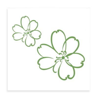 Glenna Jean Lulu Flower Wall Decals in Green(Set of 2)