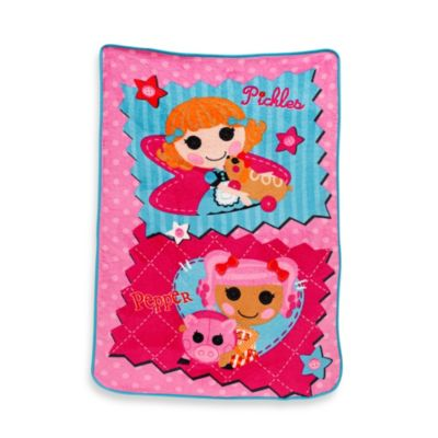 "Lalaloopsy™ ""One of a Kind"" Fleece Blanket in Coral"