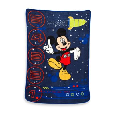"Crown Crafts Disney® Mickey Mouse ""Space Adventure Race"" Fleece Blanket"