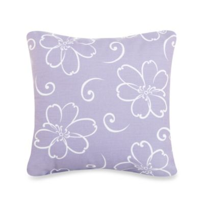 Glenna Jean Lulu Flower Throw Pillow in Lavender