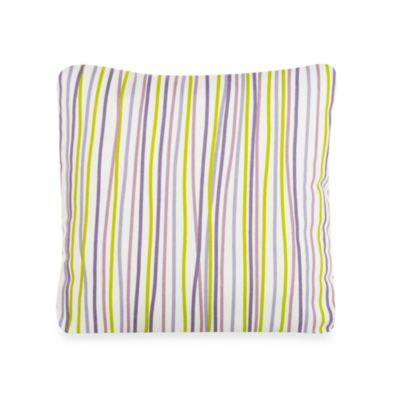 Glenna Jean Lulu Square Striped Throw Pillow