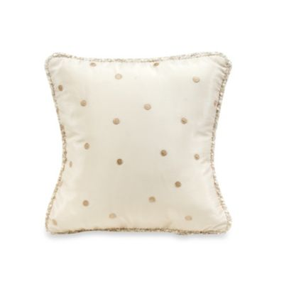 Glenna Jean Victoria Dot Throw Pillow in Mocha