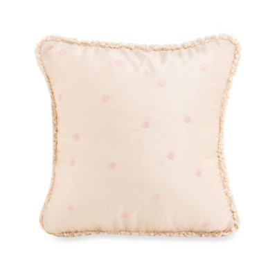 Glenna Jean Victoria Dot Throw Pillow in Pink