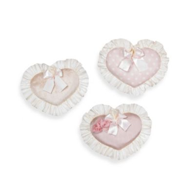 Glenna Jean Victoria 3-Piece Wall Hanging Set in Pink/Cream
