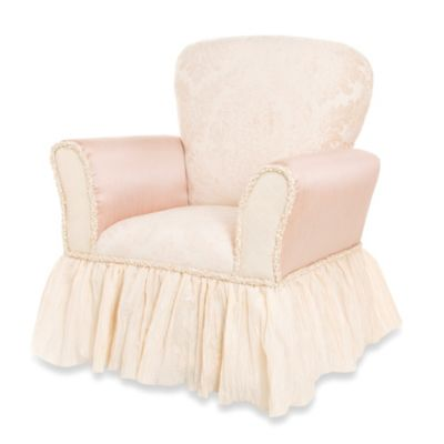 Cream Pink Child's Rocker