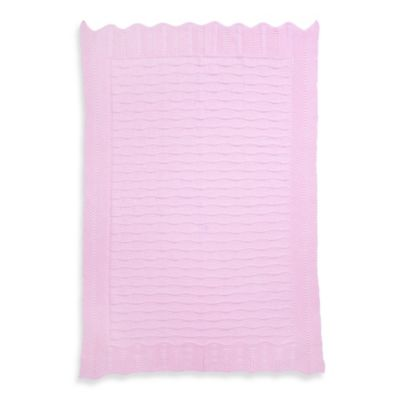 Elegant Baby® Fancy Knit Baby Blanket in Pink