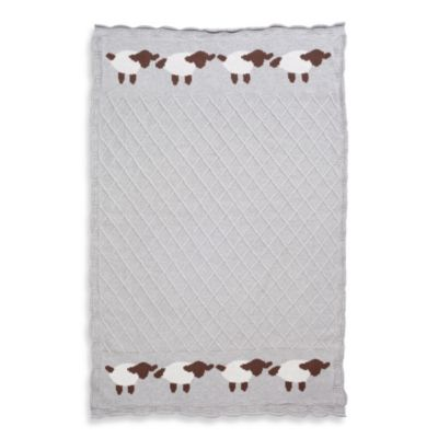 Elegant Baby® Lattice Baby Blanket in Grey Lamb