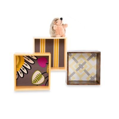 Glenna Jean Melrose Wall Hanging Cubed Wall Art (Set of 3)