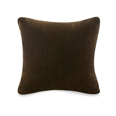 Tanzania Velvet Throw Pillow in Chocolate