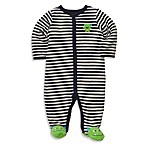 Carter's® Terry Snap-Up Sleep & Play in Navy Striped Monster