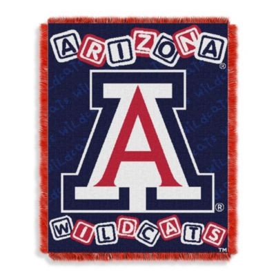 NCAA University of Arizona Woven Jacquard Baby Blanket/Throw