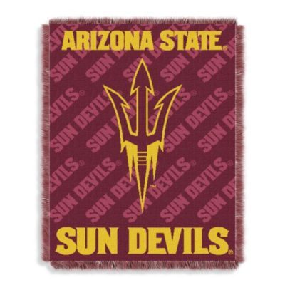 NCAA Arizona State University Woven Jacquard Baby Blanket/Throw