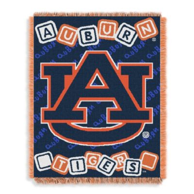 NCAA Auburn University Woven Jacquard Baby Blanket/Throw