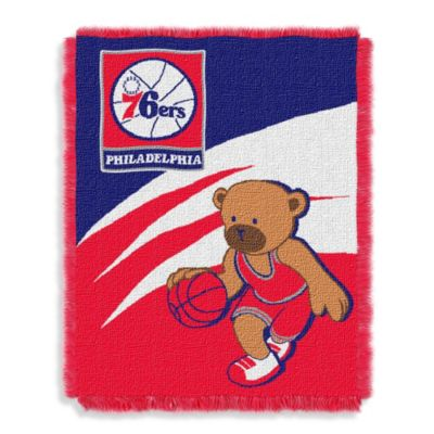NBA Philadelphia 76ers Woven Jacquard Baby Blanket/Throw