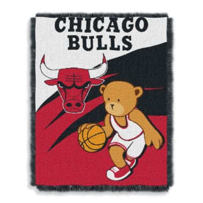 NBA Chicago Bulls Woven Jacquard Baby Blanket/Throw