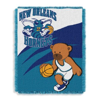 NBA New Orleans Hornets Woven Jacquard Baby Blanket/Throw
