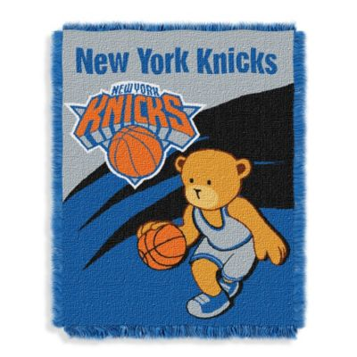 NBA New York Knicks Woven Jacquard Baby Blanket/Throw