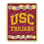 NCAA Unversity of Southern California Woven Jacquard Baby Blanket/Throw