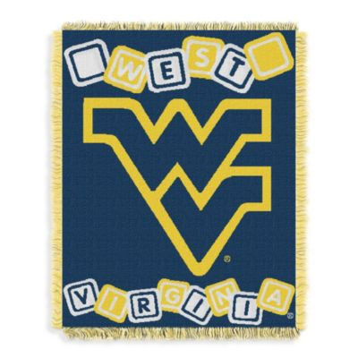 NCAA West Virginia University Woven Jacquard Baby Blanket/Throw