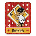 MLB Pittsburgh Pirates Woven Jacquard Baby Blanket/Throw