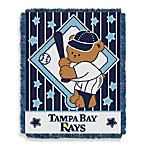 MLB Tampa Bay Rays Woven Jacquard Baby Blanket/Throw