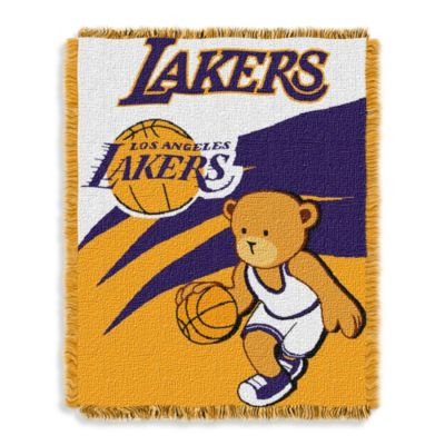 NBA Los Angeles Lakers Woven Jacquard Baby Blanket/Throw