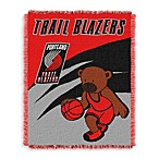 NBA Portland Trailblazers Woven Jacquard Baby Blanket/Throw