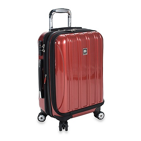 buy delsey helium aero 19 inch carry on spinner in red from bed bath beyond. Black Bedroom Furniture Sets. Home Design Ideas