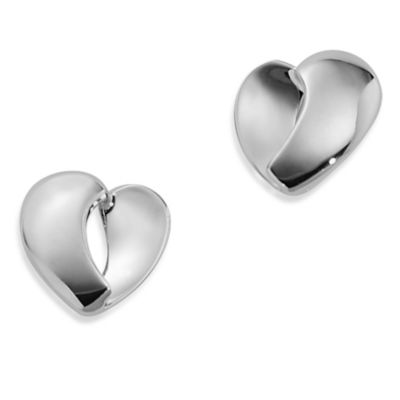 ELLE Jewelry Emotion Sterling Silver Heart Post Earrings