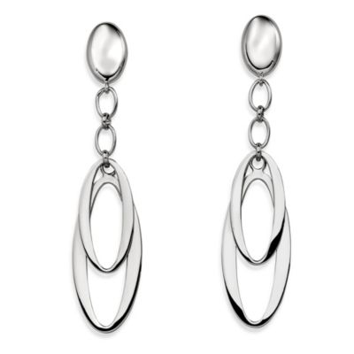 ELLE Jewelry Sleek Sterling Silver Dangle Post Earrings
